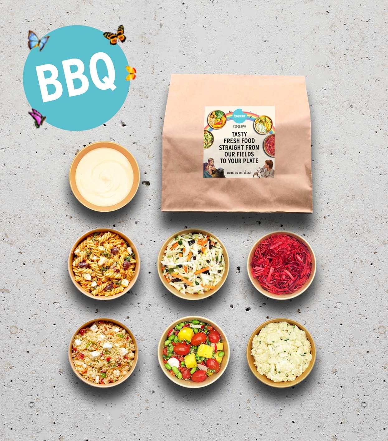 gezonde salades BBQ in meeneemverpakking
