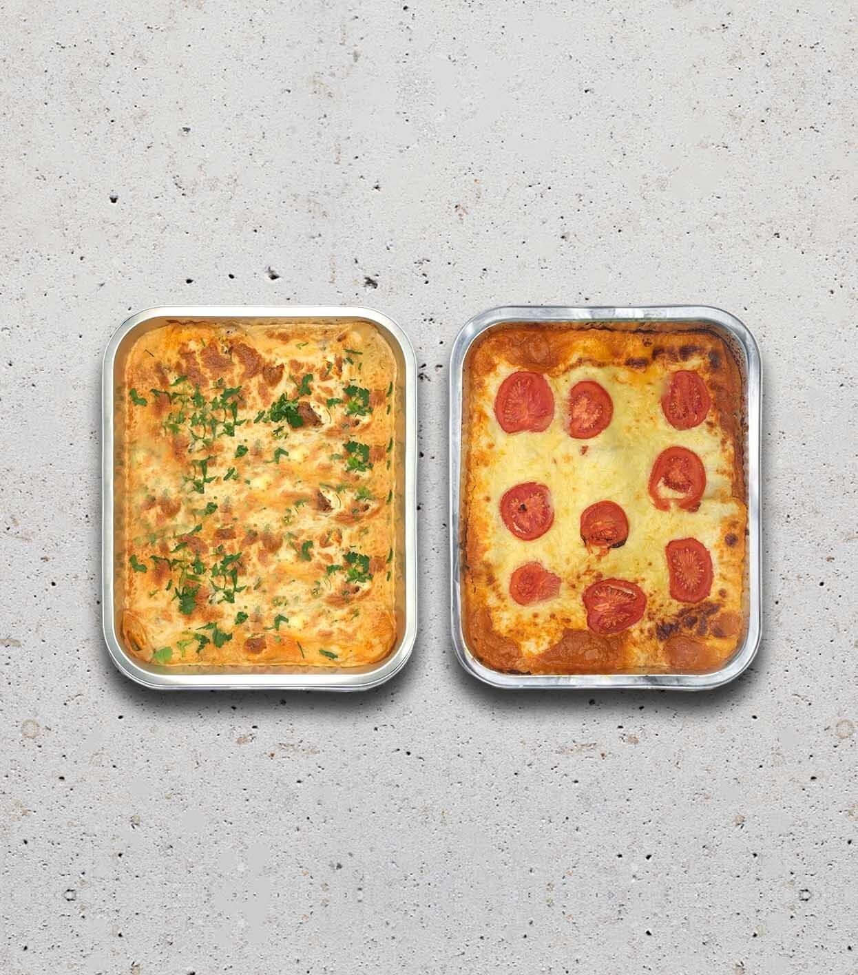 gezonde gerechten familie lasagne bolognaise moussaka ovengerecht levering